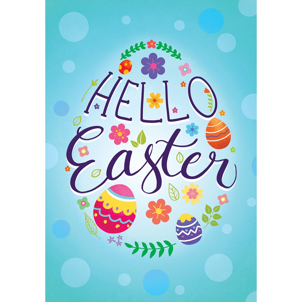 Eggsciting Easter Double Sided House Flag