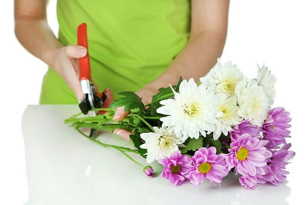 Trimming flower stems