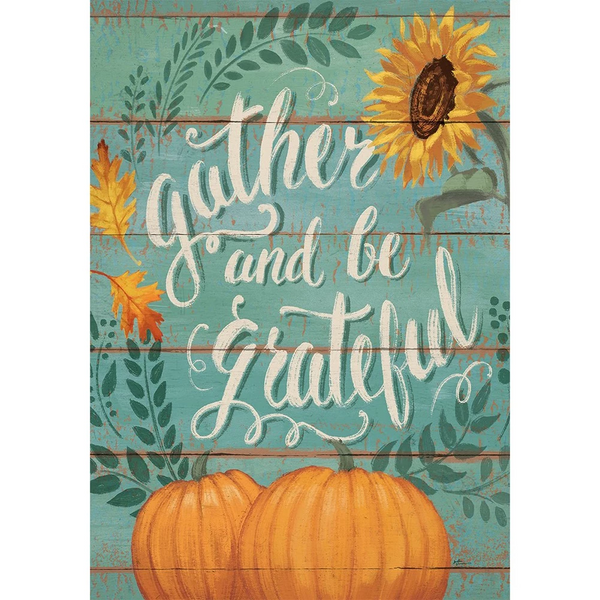 Gather & Be Grateful Double Sided Thanksgiving Flag
