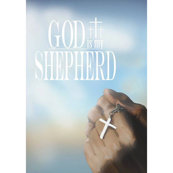 God is My Shepherd Double Sided House Flag