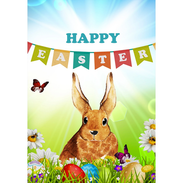 Happy Easter Banner Double Sided House Flag