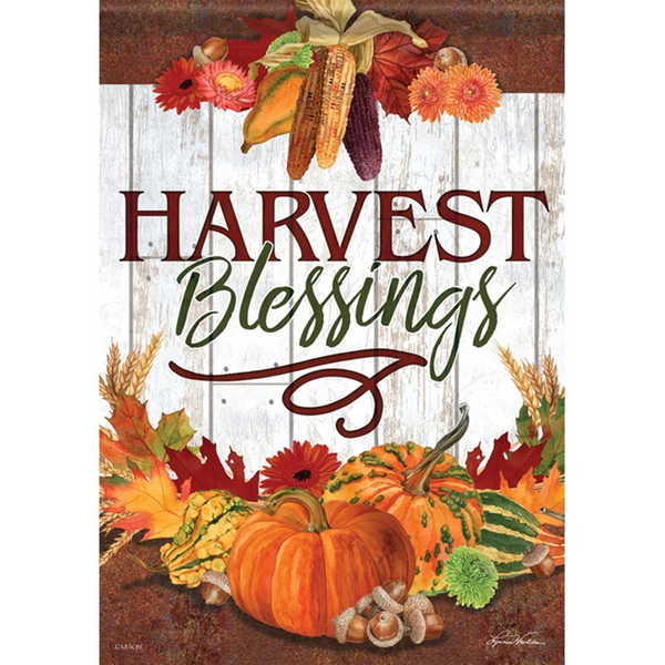 Harvest Blessings Thanksgiving Flag
