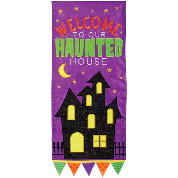 Haunted House Double Appliqued Banner Flag