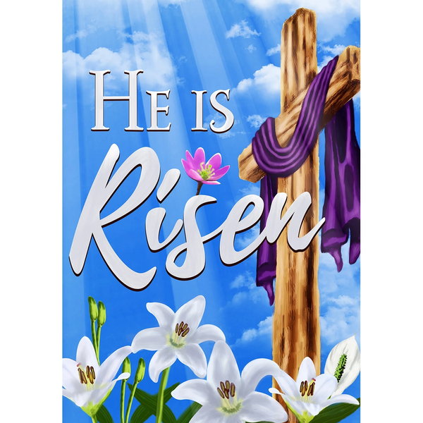 He is Risen House Flag