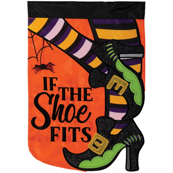 If the Shoe Fits Halloween Flag