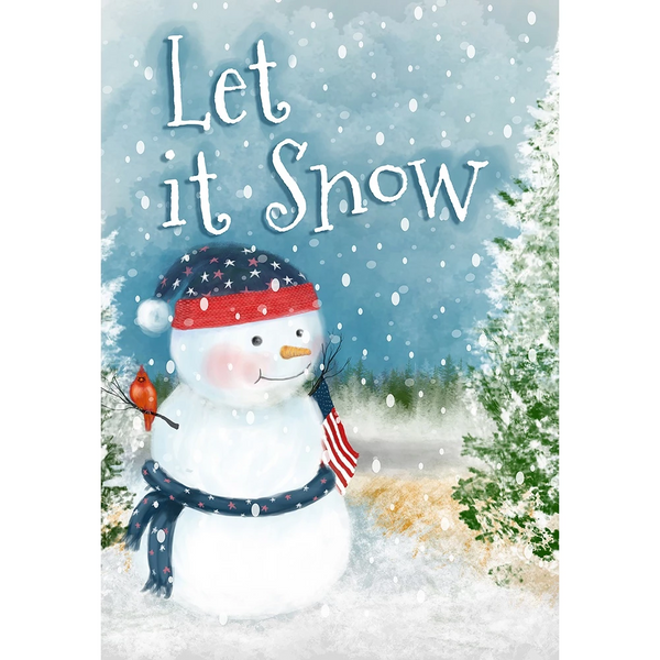 Let it Snow Double Sided Garden Flag