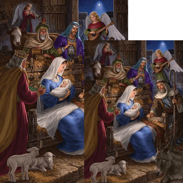 Nativity Scene Flag Set