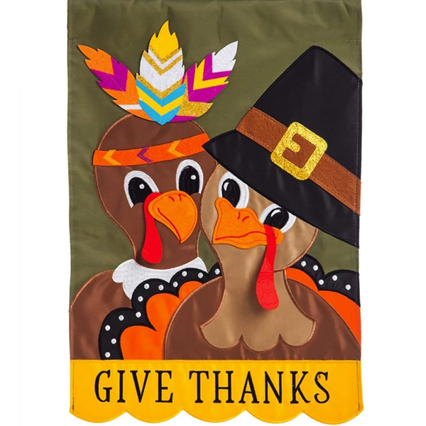 Pilgrim Thanksgiving Flag