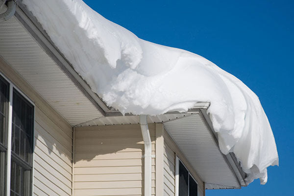 Snow filled gutters