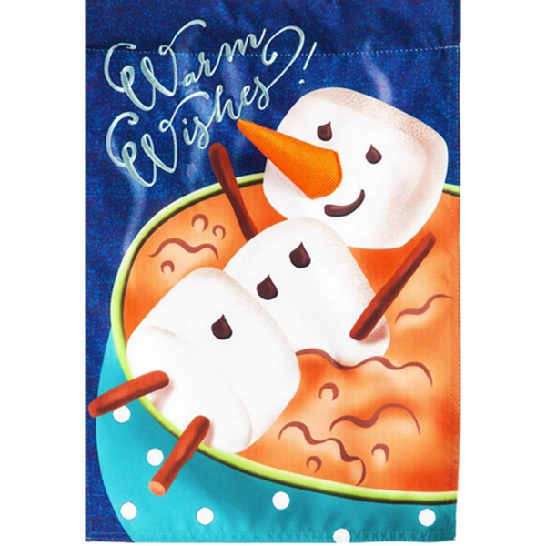 Warm Wishes Linen Double Sided Flag