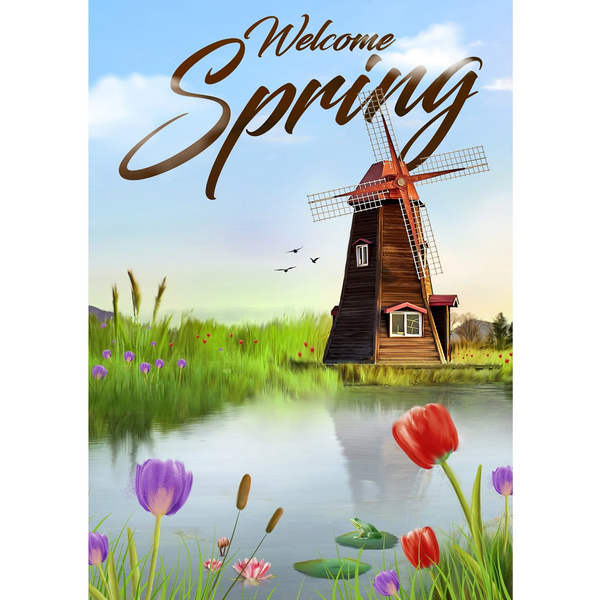 Welcome Spring Flag