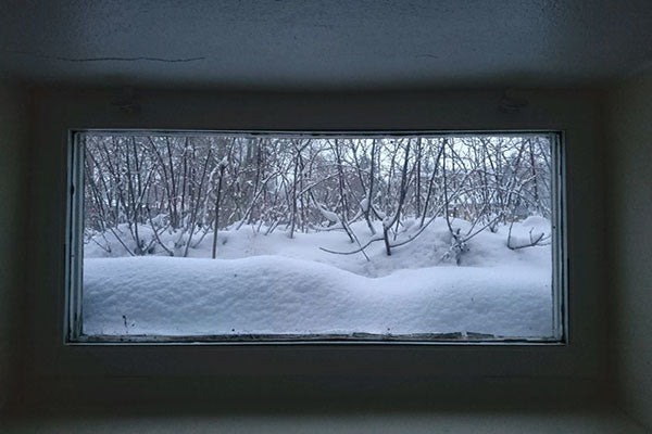 Winter Basement Window