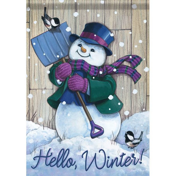 Winter Snowman Double Sided Flag