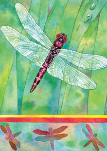 Dragonfly Double Sided Garden Flag