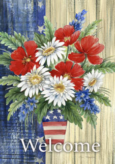 Patriotic Bouquet Garden Flag