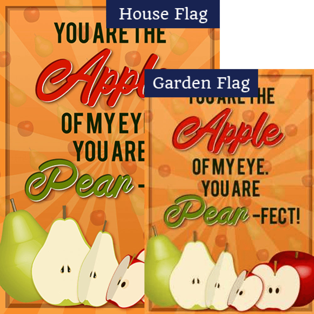 Apples & Pears Double Sided Flags Set (2 Pieces)
