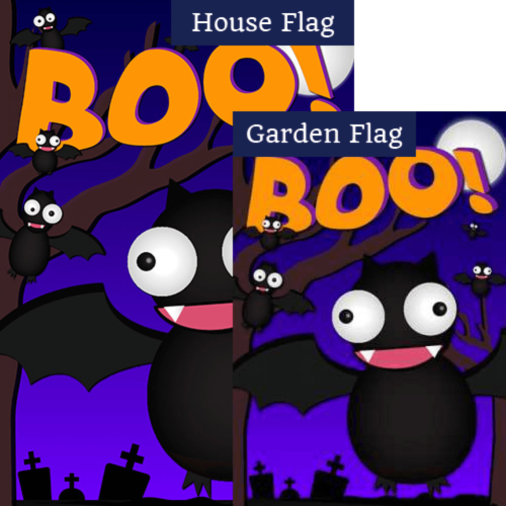 Crazy Bat Party Double Sided Flags Set (2 Pieces)