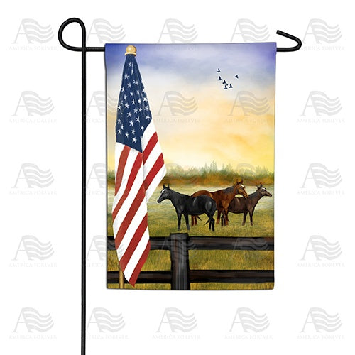 American Country Sunrise Double Sided Garden Flag