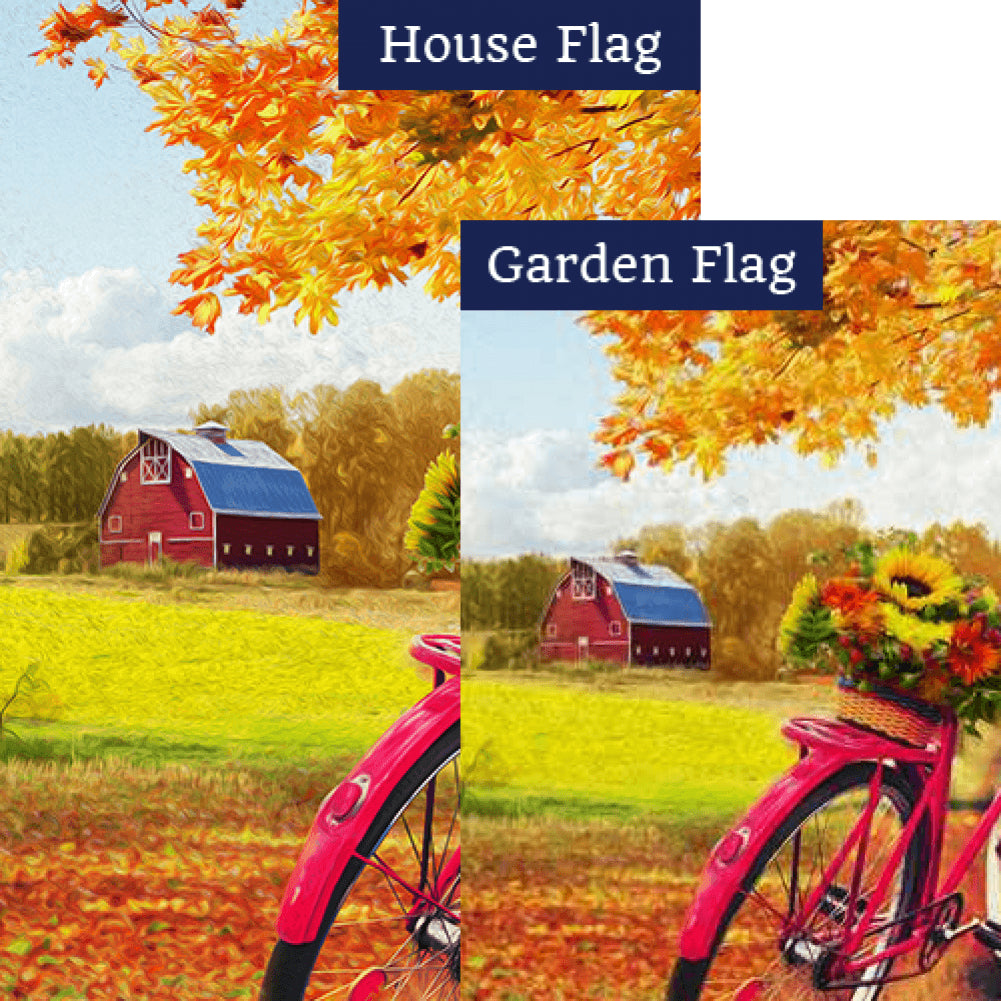Fall Country Bike Ride Flags Set (2 Pieces)