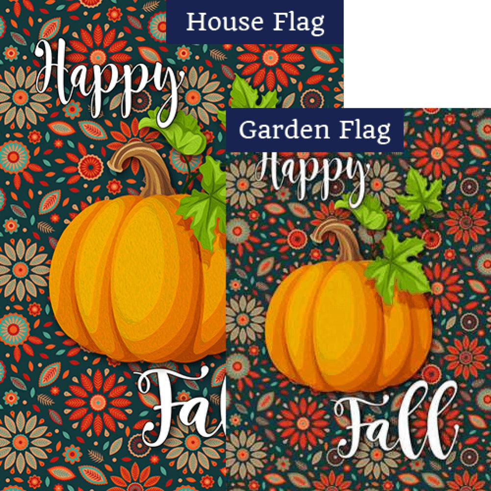 Happy Fall Leaves Flags Set (2 Pieces)