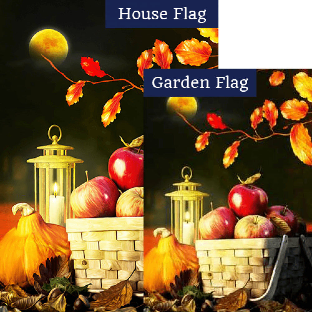 Fall Night Harvest Flags Set (2 Pieces)