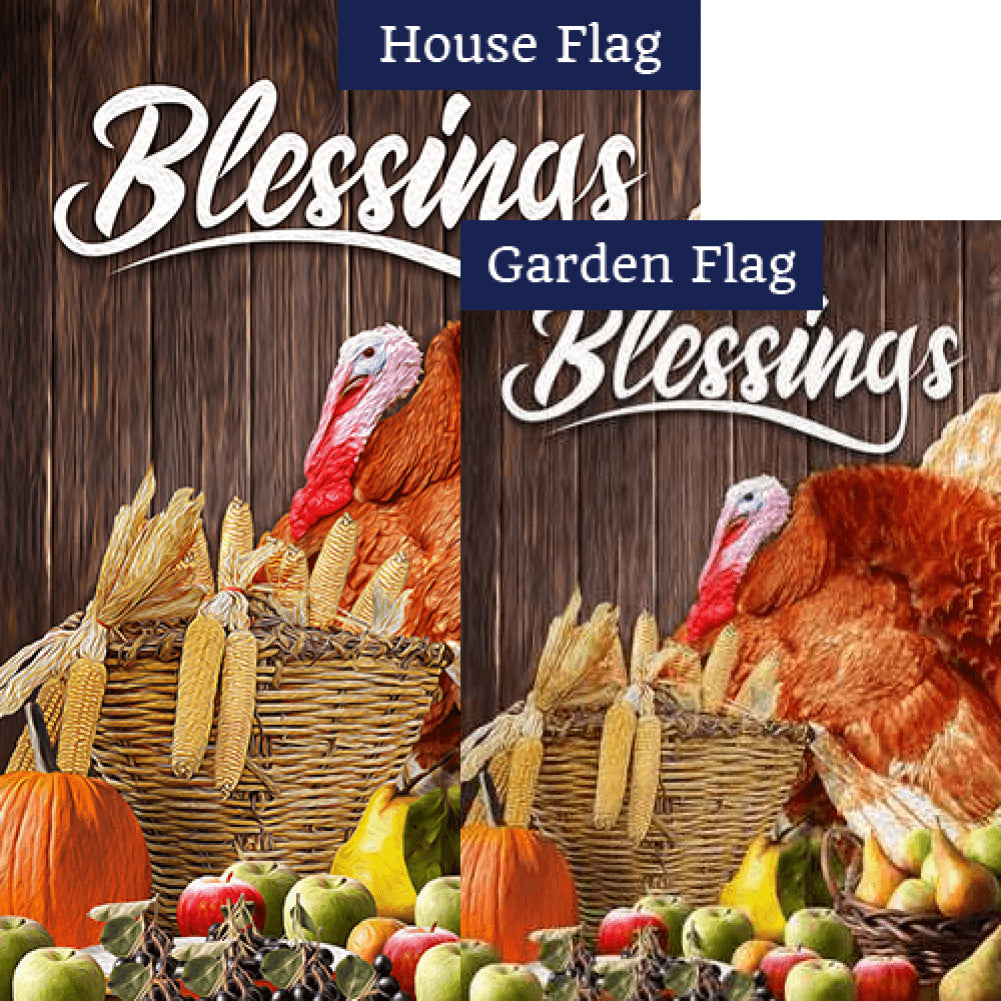 Abundant Blessings Flags Set (2 Pieces)