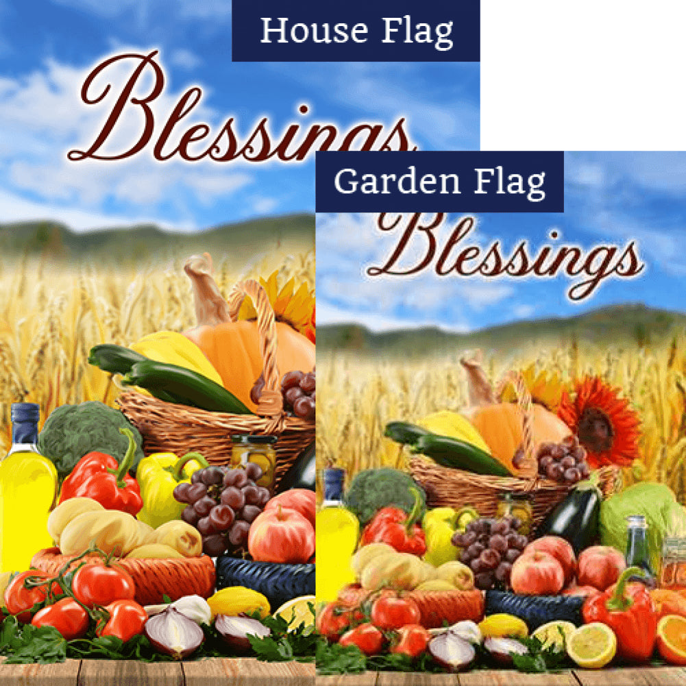 Mother Earth's Many Blessings Flags Set (2 Pieces)