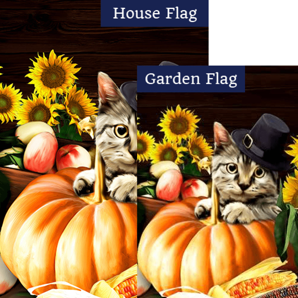Pilgrim Cat Flags Set (2 Pieces)