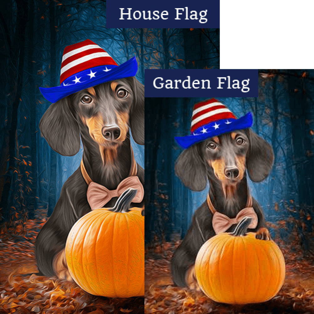 Patriotic Dachshund Flags Set (2 Pieces)