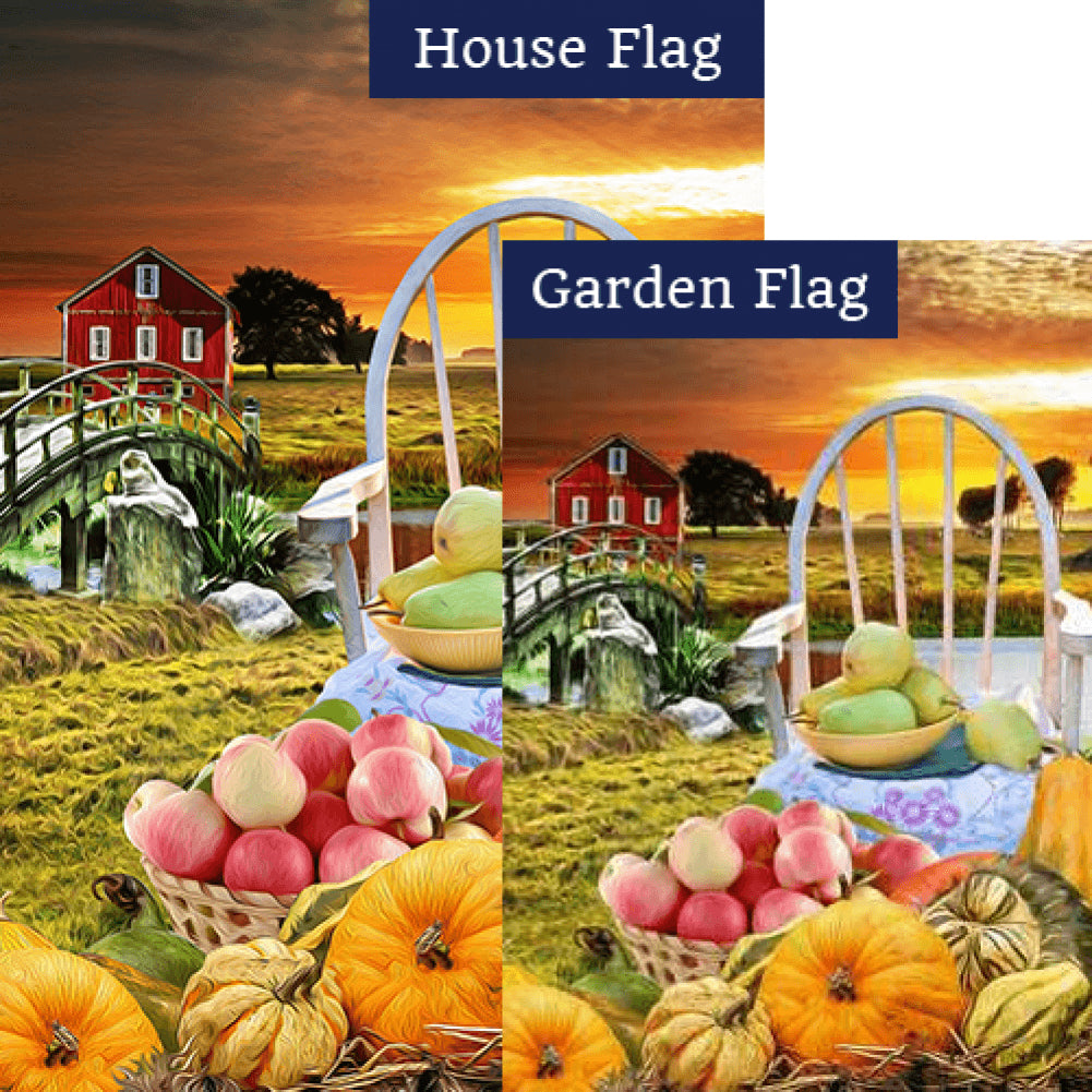 After The Day's Harvest Flags Set (2 Pieces)