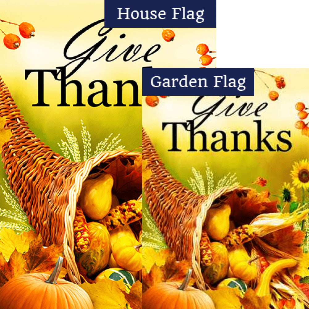 Sunny Cornucopia Flags Set (2 Pieces)