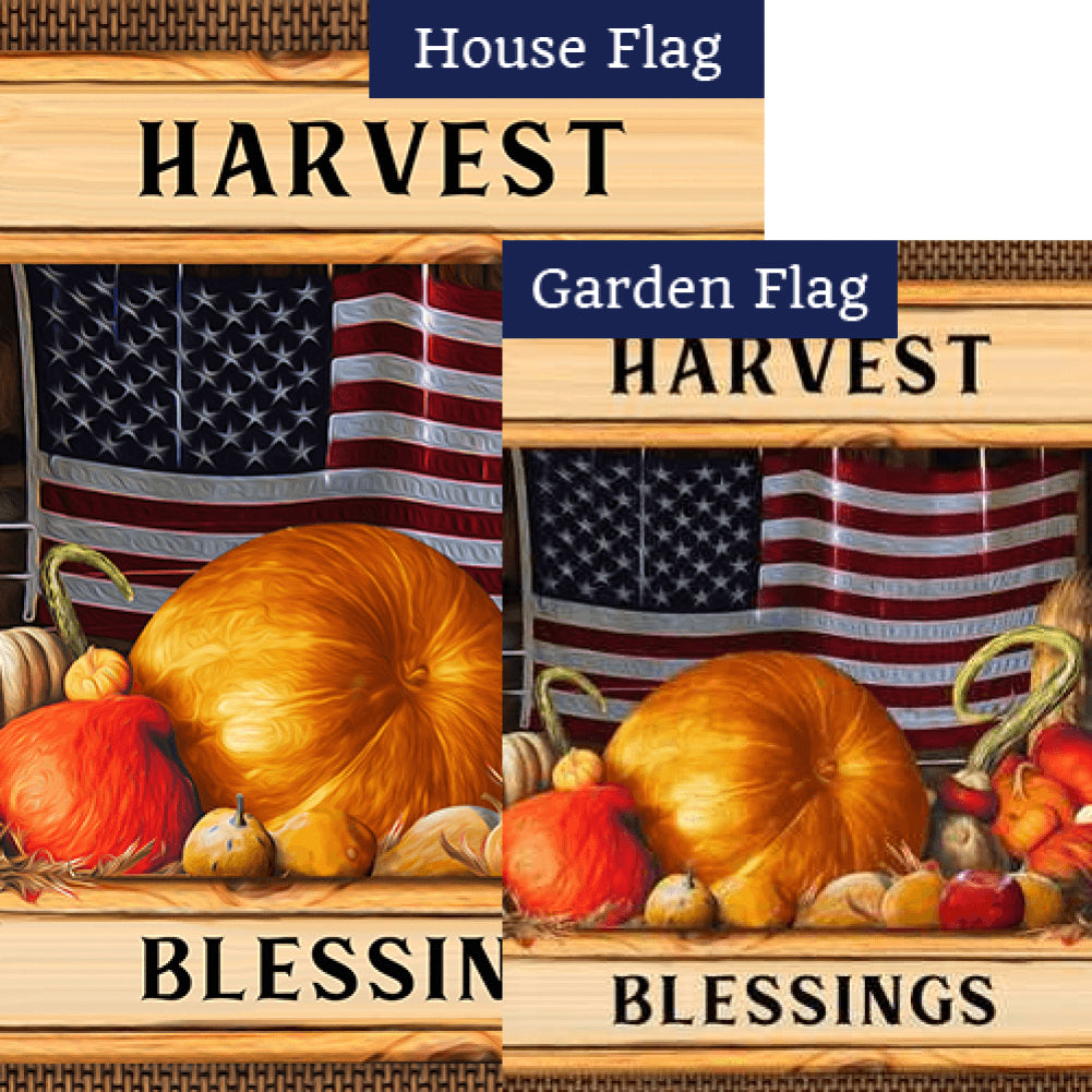 American Harvest Flags Set (2 Pieces)