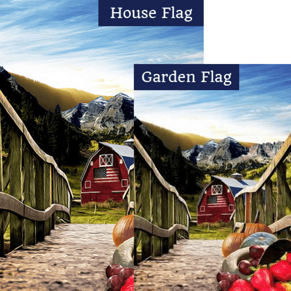 Going Home With Harvest Flags Set (2 Pieces)