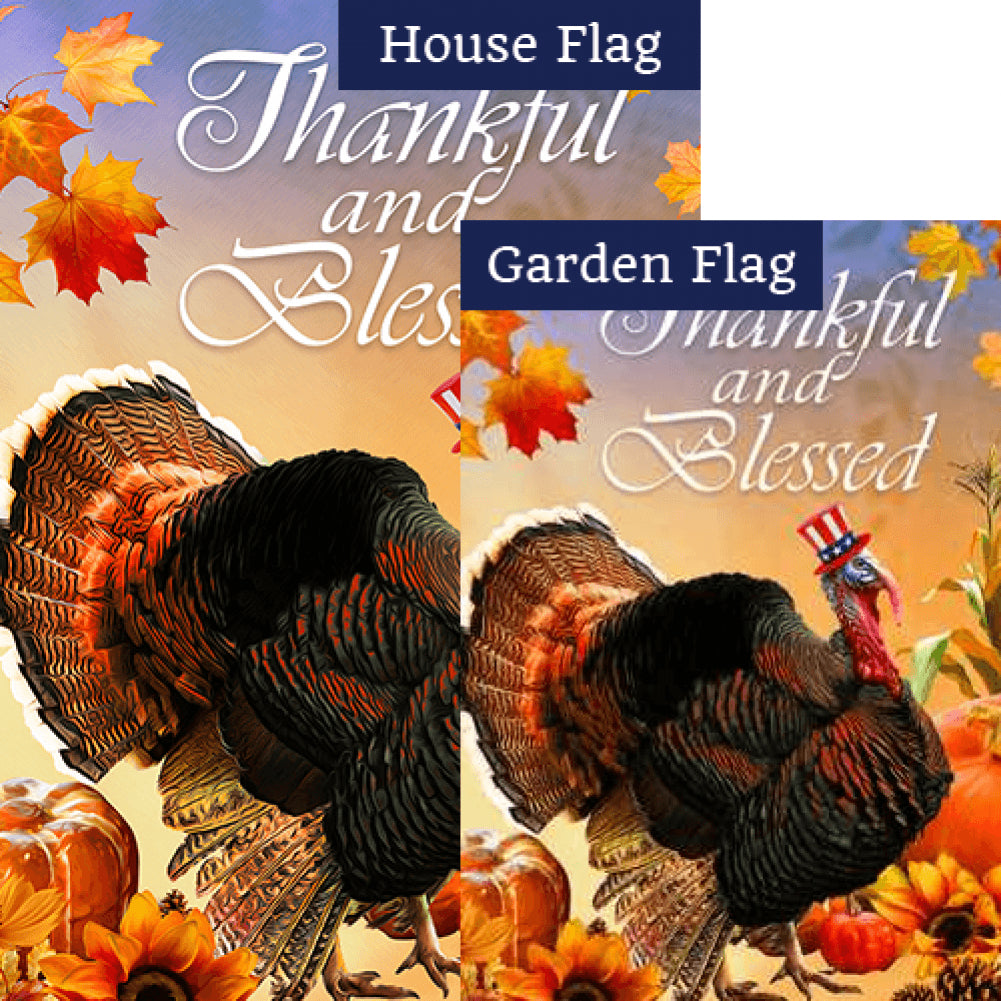 Patriotic Tom Turkey Flags Set (2 Pieces)