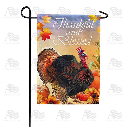 Patriotic Tom Turkey Double Sided Garden Flag