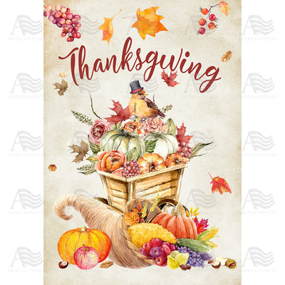 Thanksgiving Watercolor Flags Set (2 Pieces)