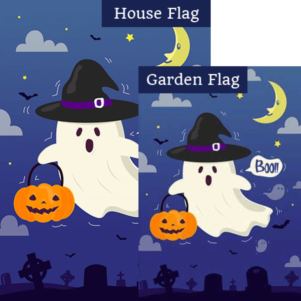 America Forever Trick Or Treat Ghost Flags Set 2 Pieces Flagsrus Flagsrus Org
