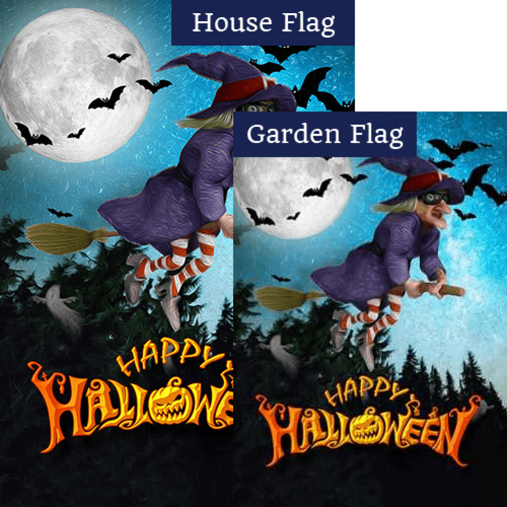 If The Broom Fits, Fly It! - Flags Set (2 Pieces)