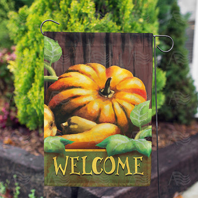 Pumpkin Welcome Double Sided Garden Flag
