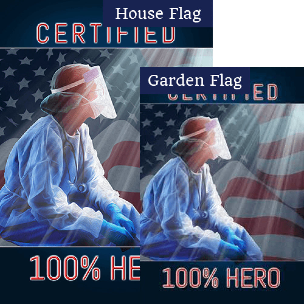 Fighting For America's Virus Victims Flags Set (2 Pieces)