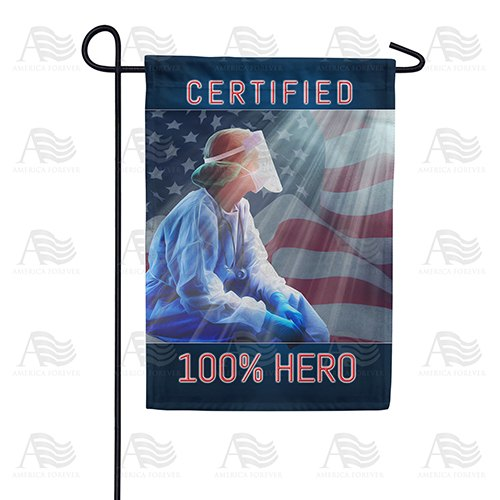 Fighting For America's Virus Victims Double Sided Garden Flag