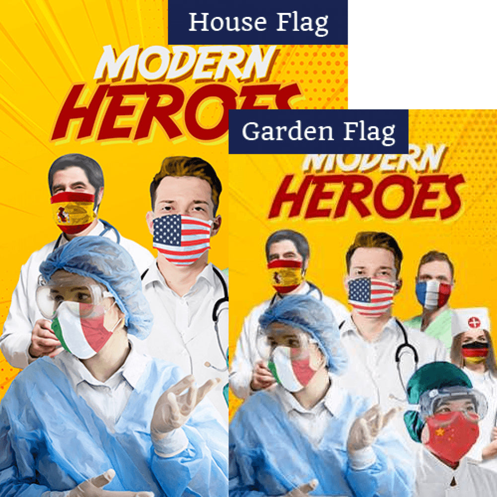 A World Of Heroes Flags Set (2 Pieces)