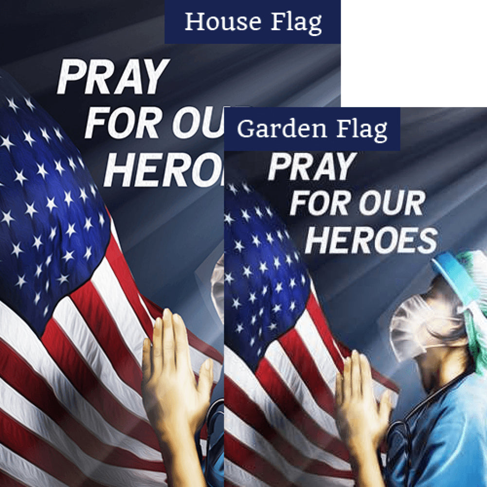 America, Pray For Our Heroes Flags Set (2 Pieces)