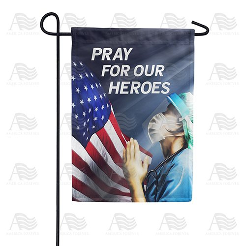America, Pray For Our Heroes Double Sided Garden Flag