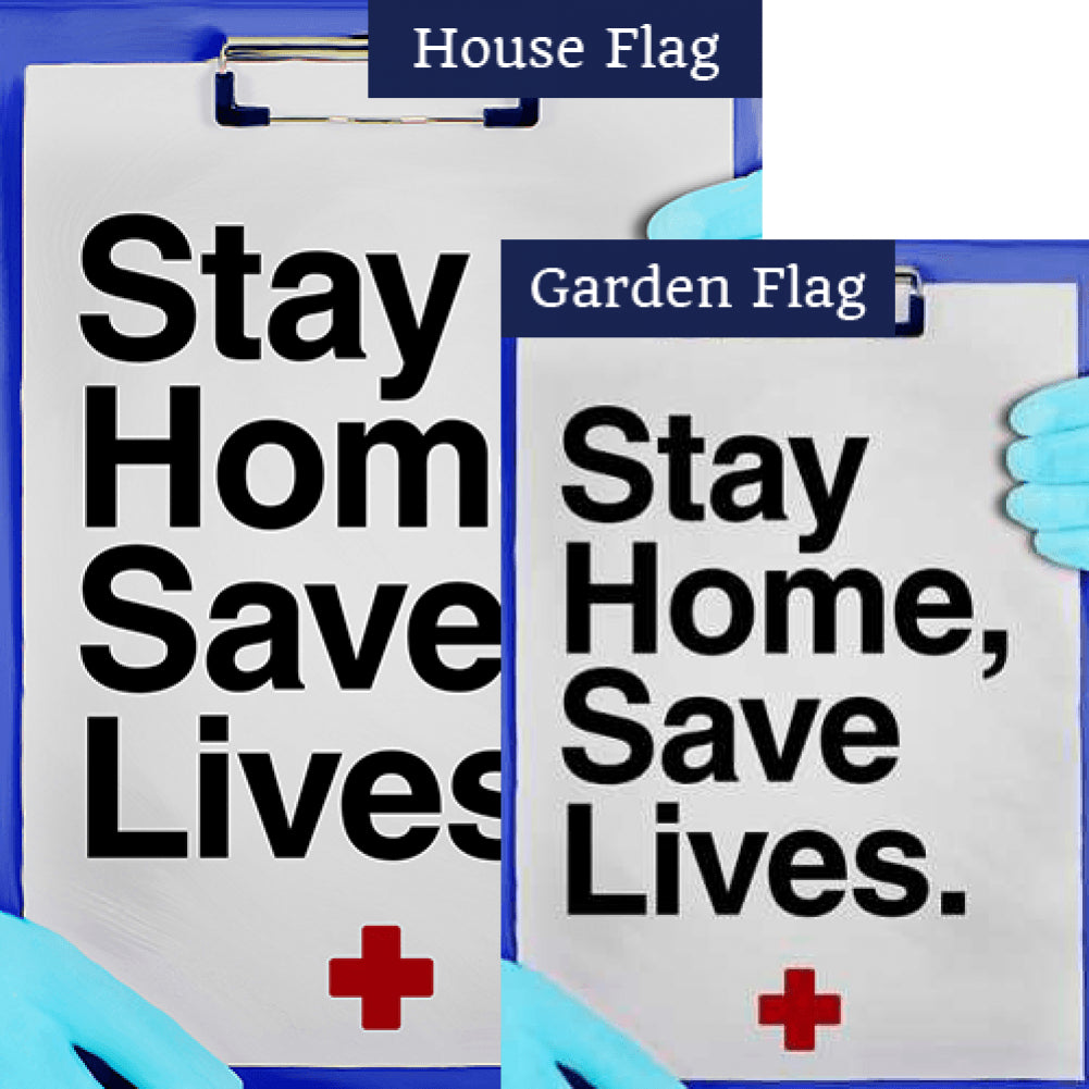 Stay Home, Stay Alive Flags Set (2 Pieces)