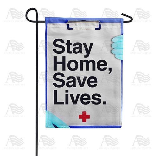 Stay Home, Stay Alive Double Sided Garden Flag