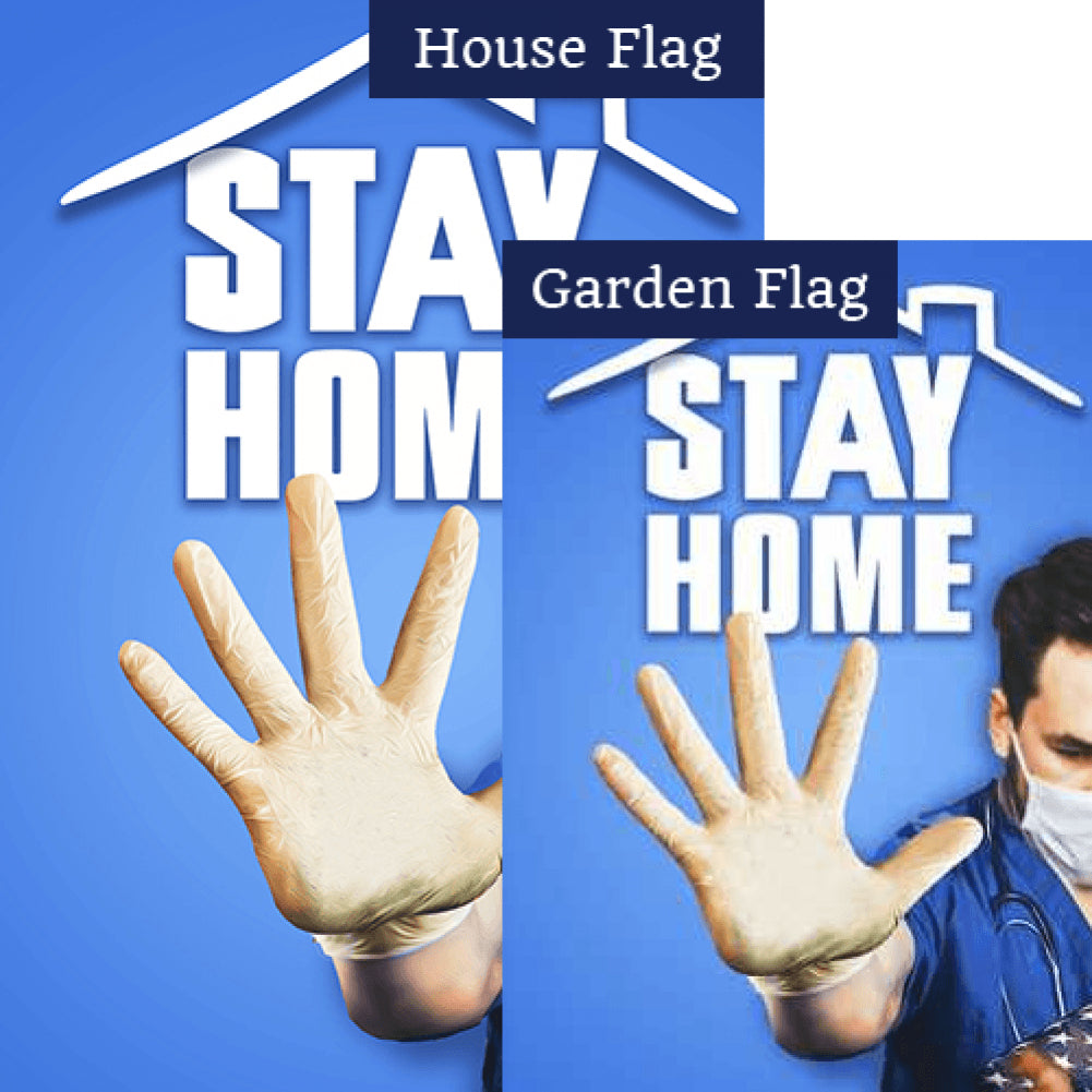 Stay Home, Save Lives Flags Set (2 Pieces)