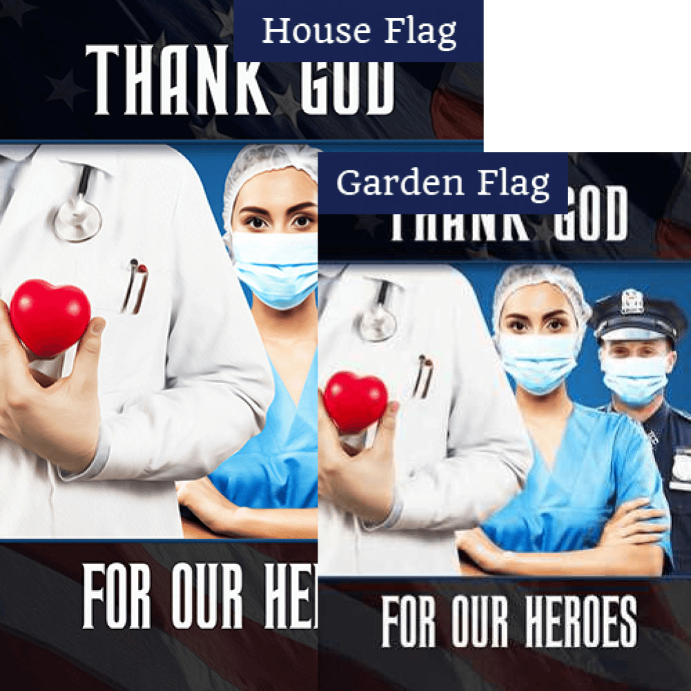 Giving Their All For All Of Us Flags Set (2 Pieces)