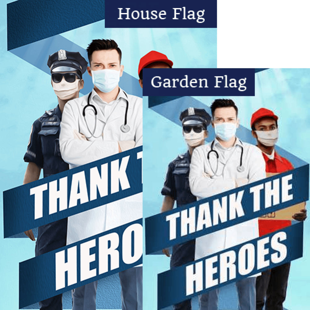 All Heroes Deserve Thanks Flags Set (2 Pieces)