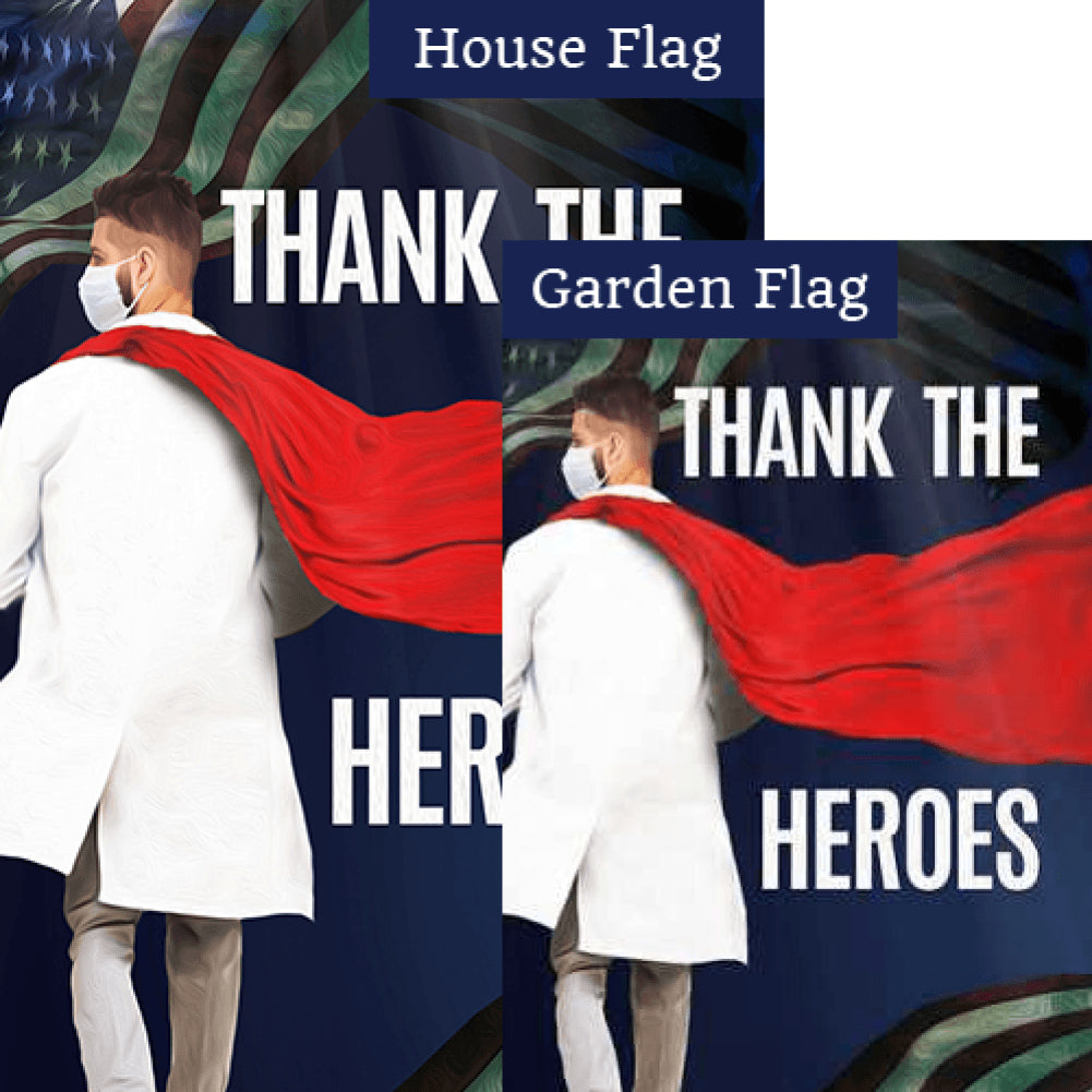 Thank The Heroes Flags Set (2 Pieces)